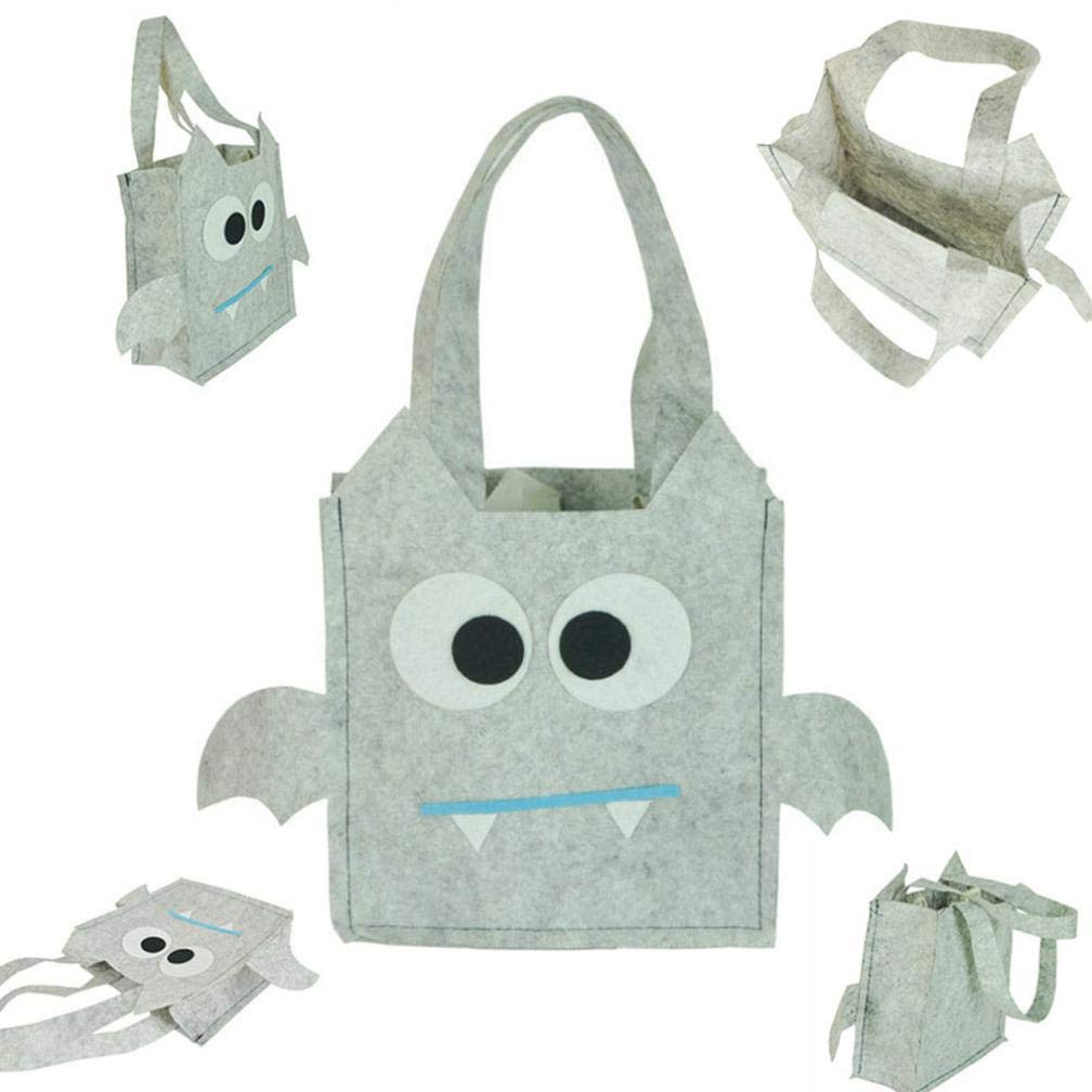 Cute Witches Candy Bag,Hongxin Halloween Party Storage Bag Gift for Children (Gray, 16 x16cm)