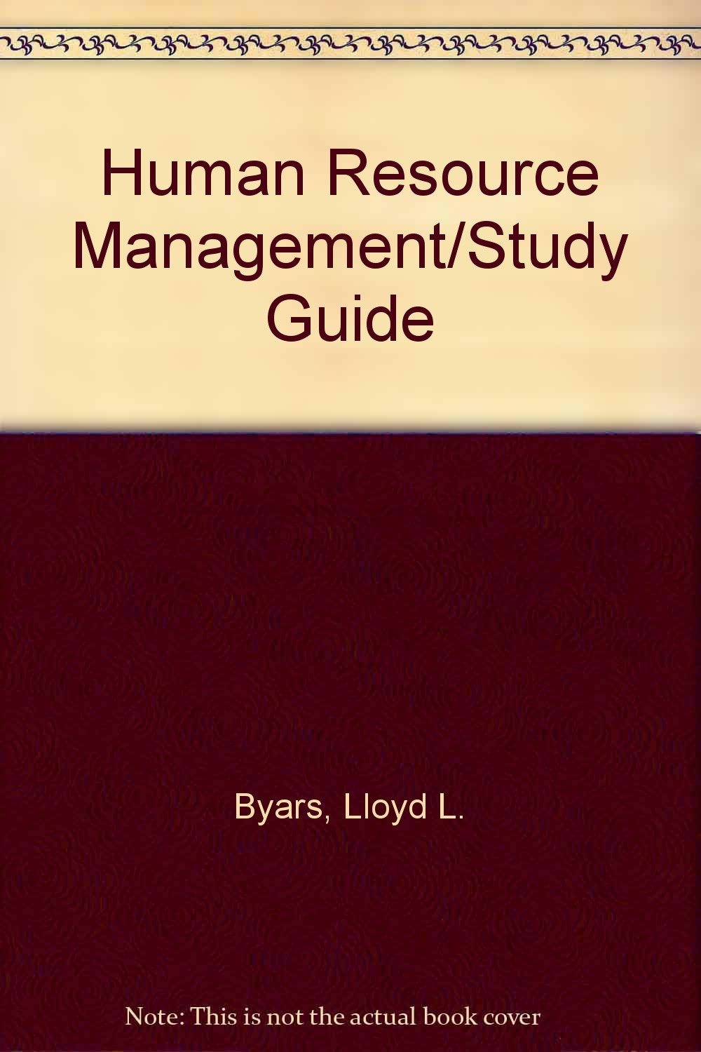 Buy human resource management + study guide book online at low.