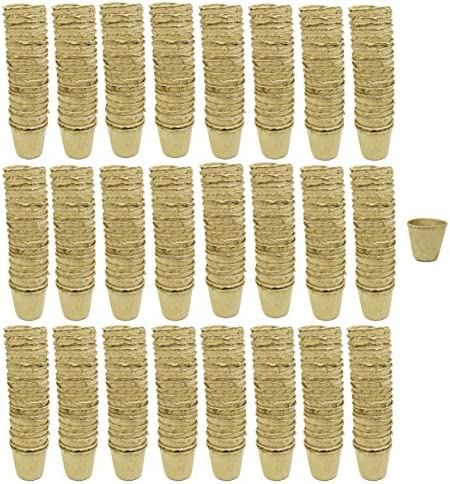 Set of 384 Small Biodegradable Eco Friendly Peat Pots 3 Pots – Recycled Non Bleached Peat Pots Perfect for Seed Germination No Transplanting Required – No More Damaged Roots