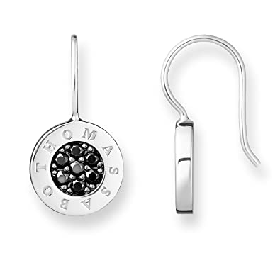 5301b841b Thomas Sabo Women's 925 Sterling Silver Black Glam and Soul Classic Pave  Earrings H1862-643-11: Amazon.co.uk: Jewellery