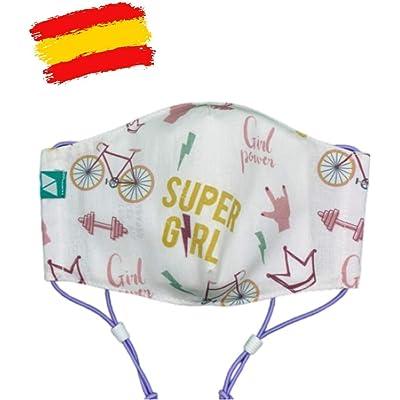 Mascarilla higiénica estampada reutilizable niña 10-11 años con filtro de 5 capas TNT_marca: Brissa España