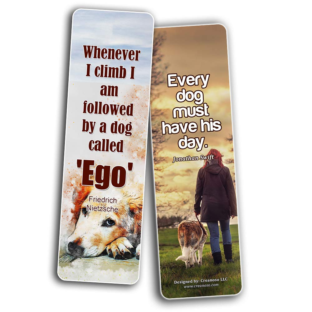 /Accessori per feste regalo regalo di compleanno per amanti dei cani Inspirational Dog citazioni proverbi segnalibri pezzi /