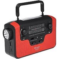 Docooler rd388Radio a energía Solar Altavoz Musical Bluetooth Cargador para móvil FM Am sw1-sw4con Linterna LED lámpara de Lectura Sirena Alert Support TF Card