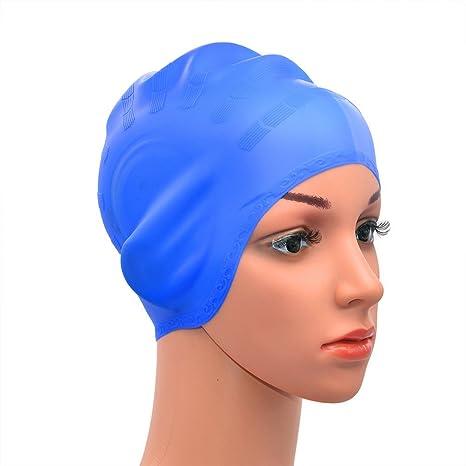 medifier Warterproof in silicone Cuffia da nuoto cappello paraorecchie per  Aldult uomini e donne cba5bdb6438e