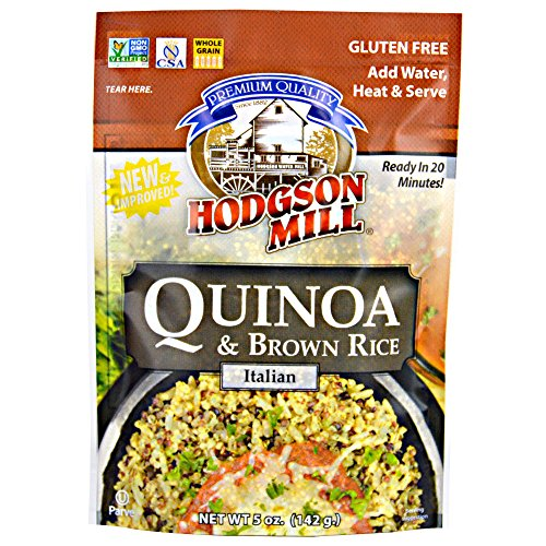 Hodgson Mill Quinoa and Brown Rice, Italian Seasoning, 5 Ounce (Pack of 6), Ready In Minutes Flavored Whole Grain Pouches with Quinoa and Brown Rice, Easy and Savory Health Conscious Side Dish