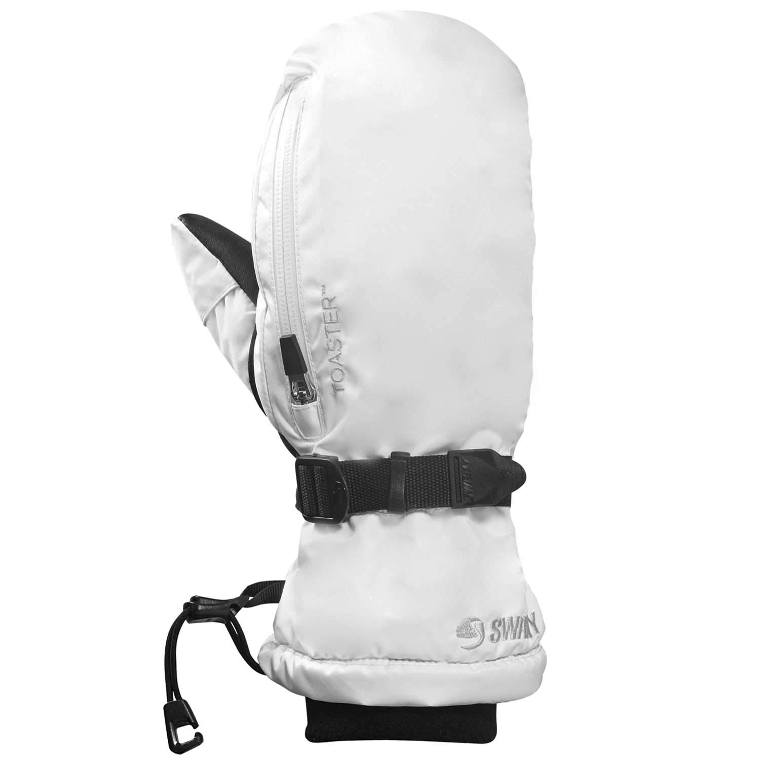 Swany Ladies Touch Screen Arctic Mitt, White, Large