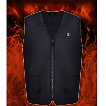 Heating Clothes Amazon Com >> Umiwe Heated Vest Electric Winter Warm Vest 360 Heating Usb Chargeable Adjustable Heated Clothing Warm Waistcoat For Men Women Reduce Pain Beauty
