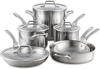 Calphalon Signature Stainless Steel 10-Piece Cookware Set