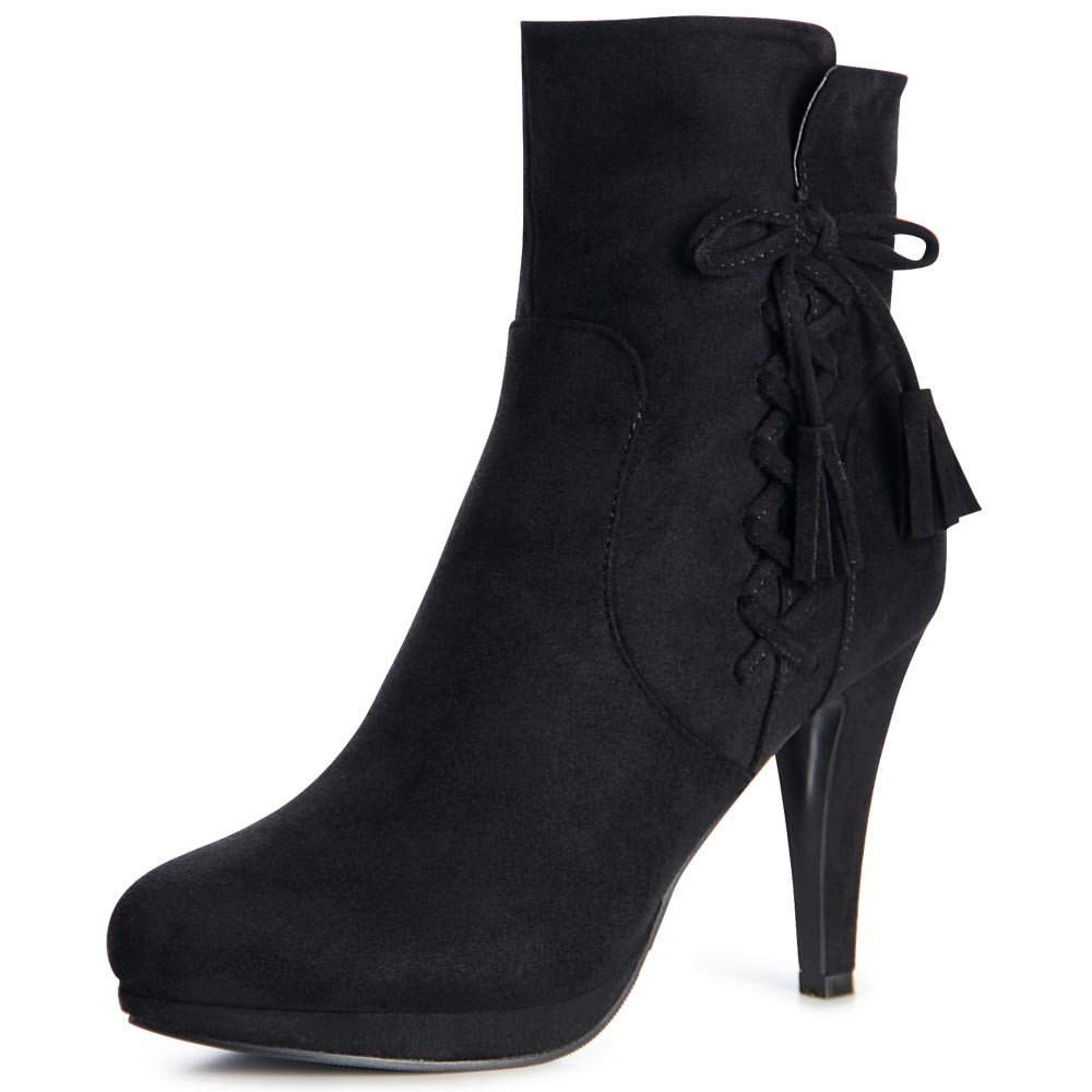 topschuhe24 1012 Damen Plateau Stiefeletten Ankle Boots  36 EU Schwarz