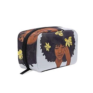 Travel Toiletry Makeup Bag Black Girl Magic Afro Cosmetic Bags Women s  Portable Travel Kit Organizer  4bb48ae64f