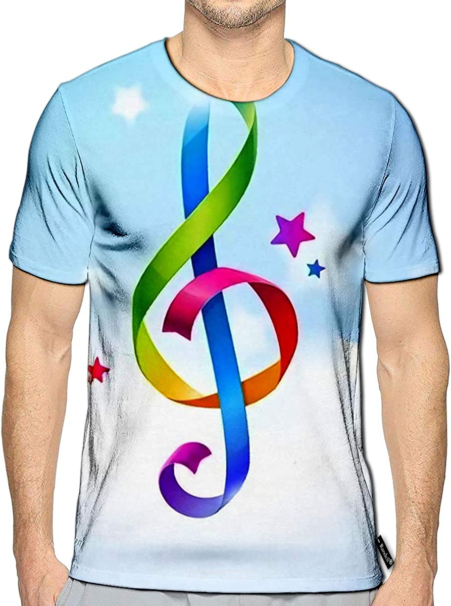 Randell 3D Printed T-Shirts Firework Different Shapes Colorful Festive Heart Bright Carn
