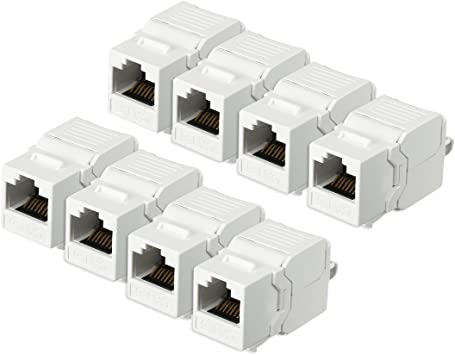 RJ45 Surface Mount Box Network LAN Ethernet Modular Keystone Jack 8P8C White