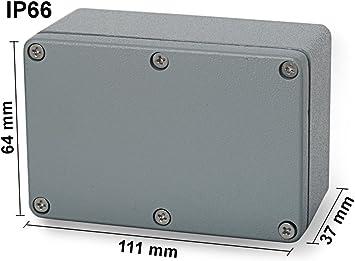 EDI-TRONIC carcasa caja recinto industrial vacío en aluminio 111x64x37mm FA7 IP66: Amazon.es: Bricolaje y herramientas