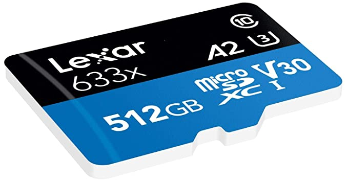 Lexar Tarjeta High-Performance 512GB 633x microSDXC UHS-I