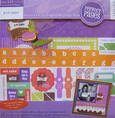 Colorbok Perfect Pages Birthday Scrapbook Kit 12
