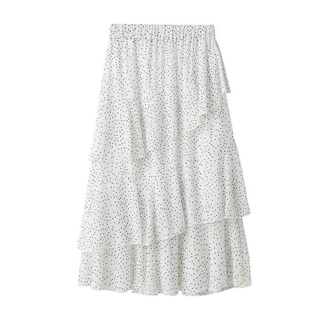 Qijinlook 💖 Faldas largas Lunares Mujer Fiesta Elegante ...