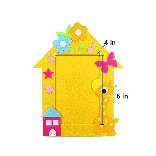 Yuccer Kit de Manualidades para Niños, 6 PCS Marcos de Fotos Niños ...