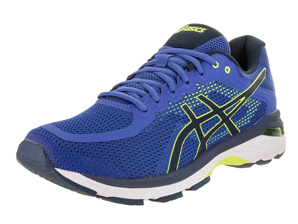 Victoria bluee Dark bluee Safety Yellow ASICS Men's Gel-Pursue 4 Running shoes