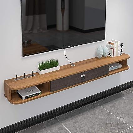 etagere meuble tv moderne a 2 niveaux avec support tv meuble tv flottant console multimedia mur cabniet element tv etagere suspendue for stockage