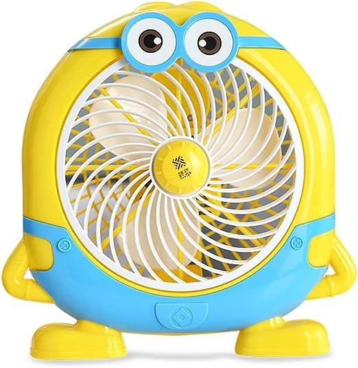 YHDD Dibujos Animados Lindo pequeño Ventilador eléctrico Amarillo ...