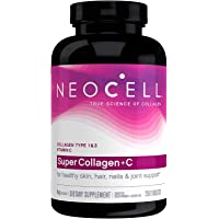 NeoCell Super Collagen Plus C Type 1 and 3 - 6000 mg - 250 Tablets