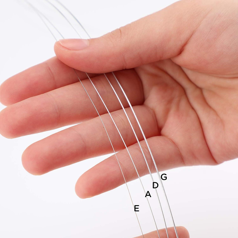 GDAE N/úcleo De Acero Con Cabeza Esf/érica Niquelada Para Instrumentos De Viol/ín SAVITA Juego Universal De Cuerdas De Viol/ín 4//4 Cuerda Plateada Cl/ásica