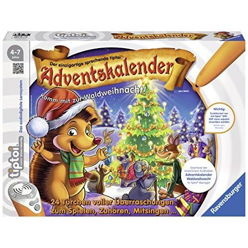 Ravensburger tiptoi 00758–Calendrier de l'Avent–Forêt des animaux de Noël