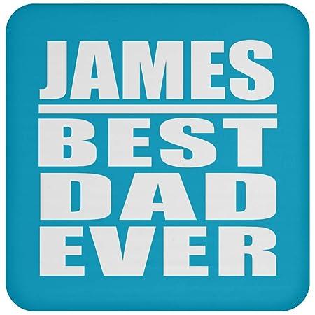 James Best Dad Ever - Drink Coaster Turquoise Posavasos para ...