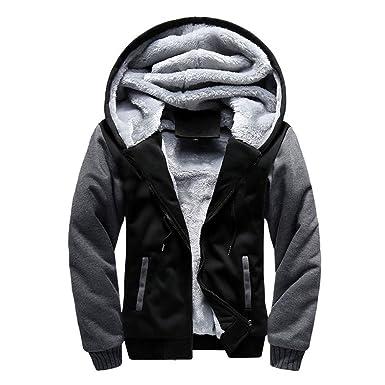 091bdce9547d1a Amazon | メンズ パーカー ジャケット 裏起毛 冬服 スウェット アウター フード付き 防寒保温 ジップアップ セーター |  トレーナー・パーカー 通販