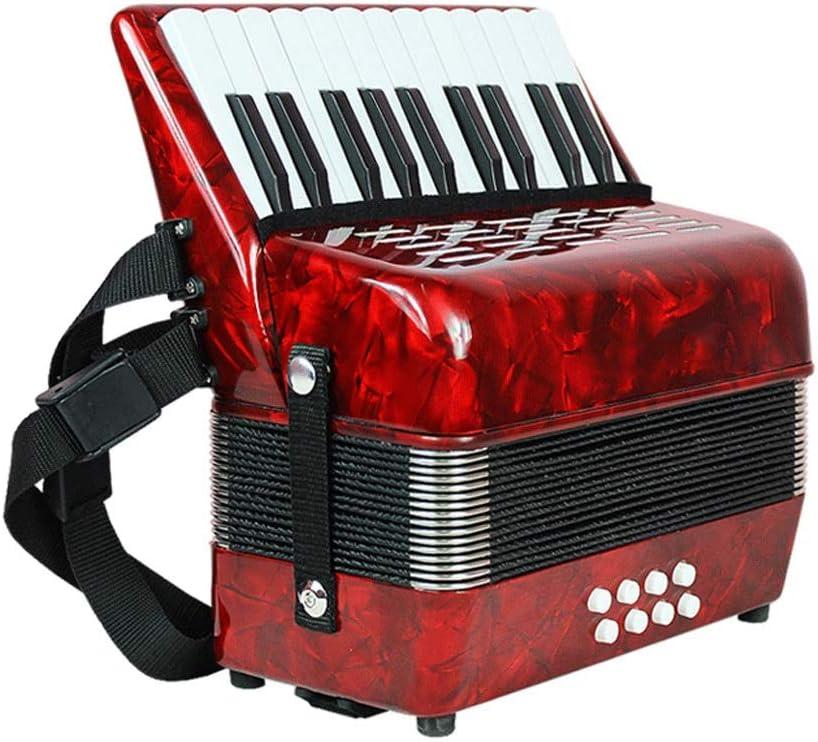 M-zutx 22 teclas 8 bajos Niños tocando el acordeón Principiante ...