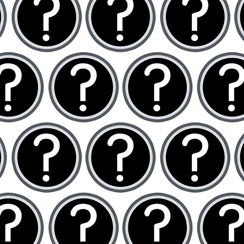 (Premium Gift Wrap Wrapping Paper Roll Symbols - Mystery Question)