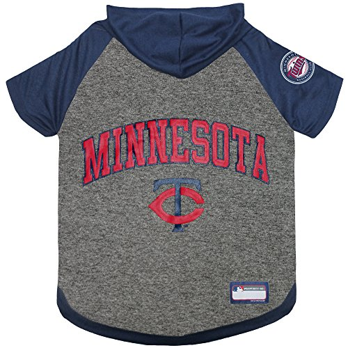 MLB Hoodie for Dogs & Cats - Minnesota Twins Dog Hooded T-Shirt, X-Small. - MLB Team Color Hoody