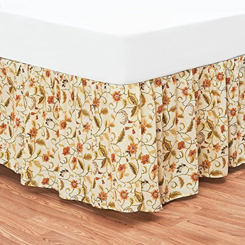 C&F Home Amelia Floral Full Bed Skirt Full Bed Skirt Cream