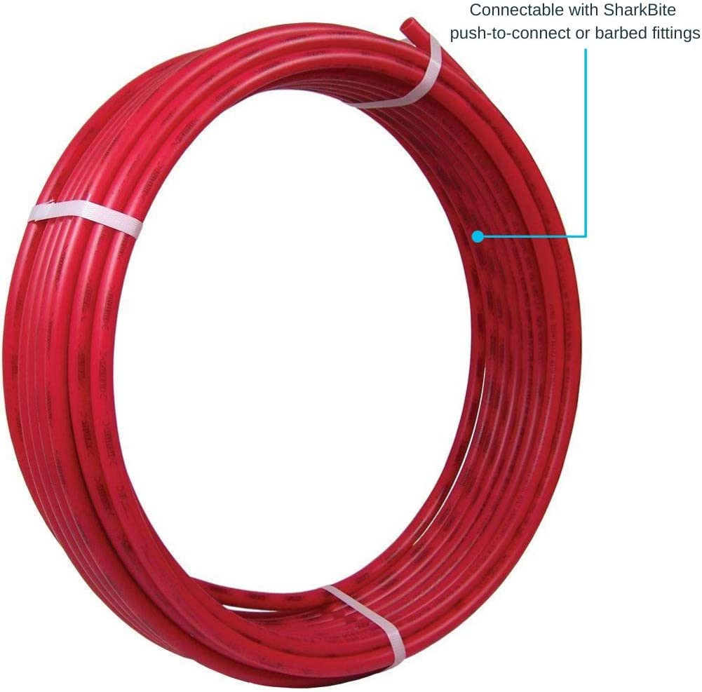 Sharkbite U870r100 Pex Pipe 3 4 Inch Flexible Water Tube Pot Red 100 Ft Plumbing Hoses Amazon Com