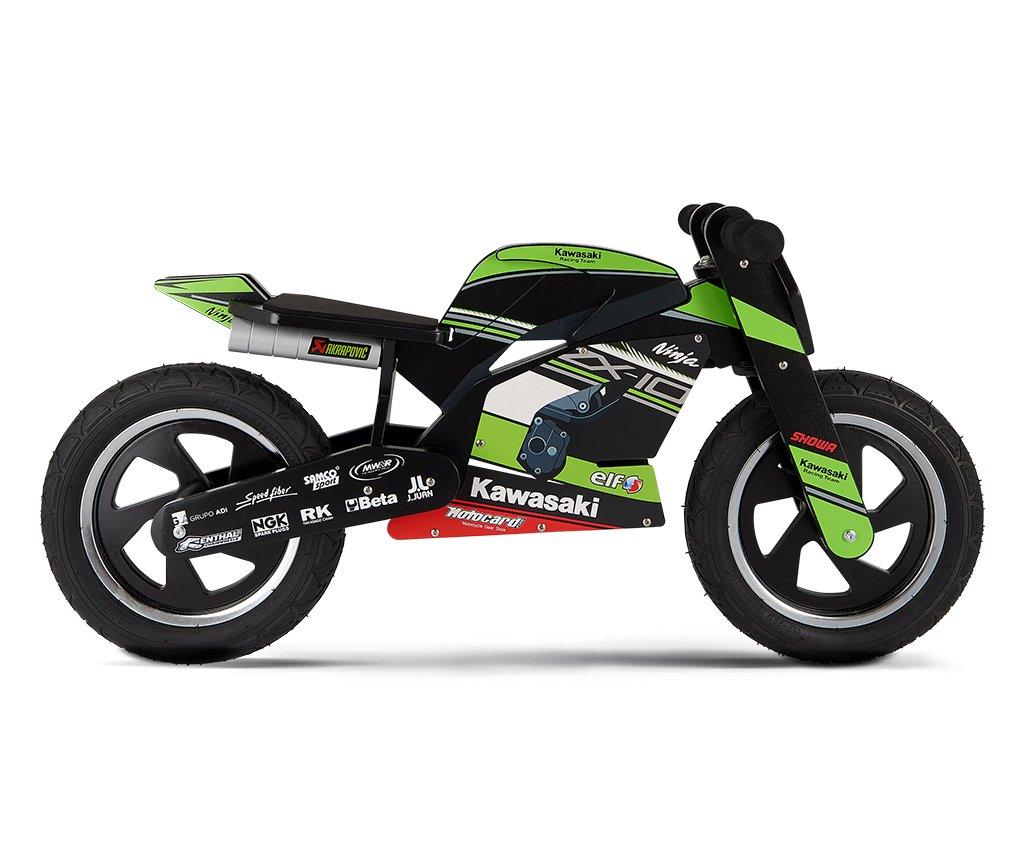 Kawasaki Ninja Kiddimoto Rueda. Unidad Aprendizaje Cilindro de madera con neumáticos: Amazon.es: Bebé