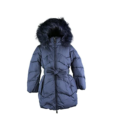online retailer 73187 51718 Monnalisa Giubbino Bimba 170101 0056 Piumino Pelliccia blu ...