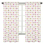Sweet Jojo Designs 2-Piece Pink Happy Owl Collection Window Treatment Panels