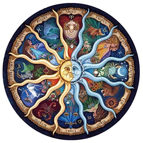 DIY Handwork Store Mandala Series Sun God Zodiac Horoscope 5D DIY Crystal Diamond Painting Cartoon Cross Stitch Full Needlework Embroidery Christmas Gift Wall Stickers-[23.6