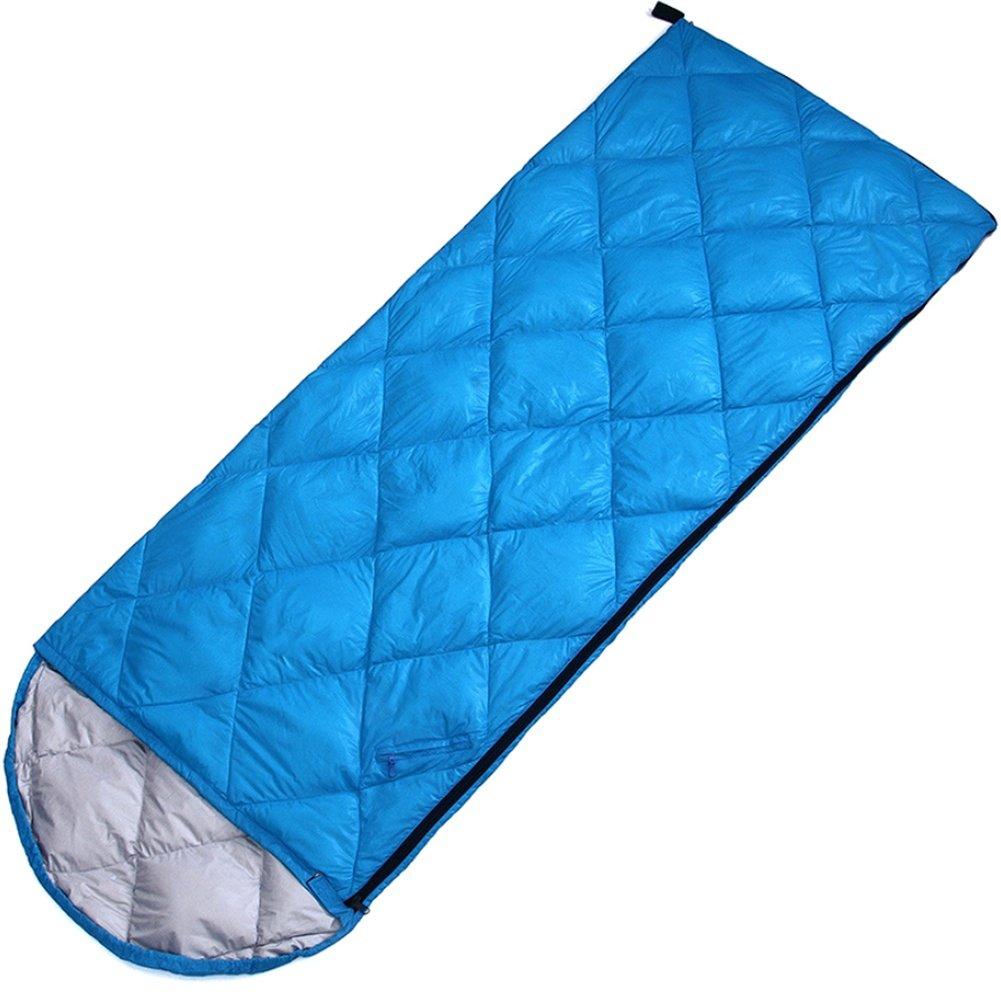 SHUIDAI Al aire libre que acampan saco de dormir sobre con capucha saco de dormir pluma primavera verano abajo plumón saco de dormir , Blue: Amazon.es: ...