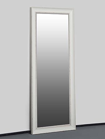 Wandspiegel Weiß 130 x 50 cm Barock Landhaus Shabby Chic Spiegel mit