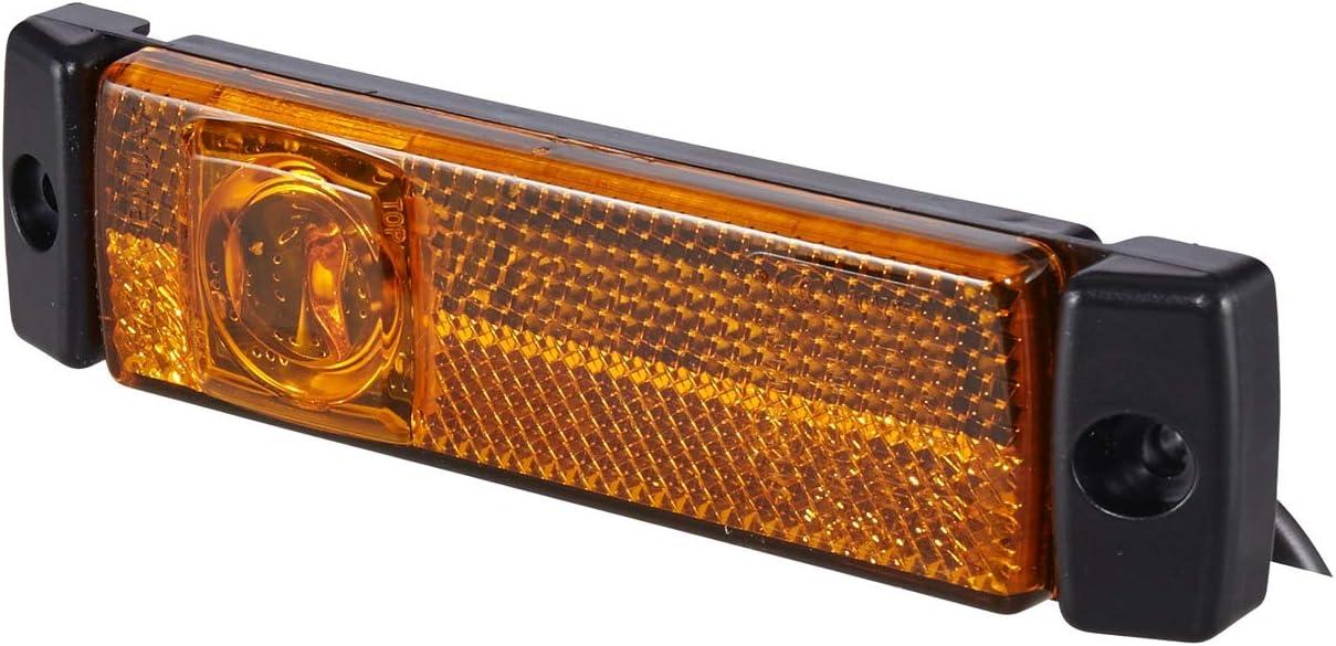 Hella 2ps 008 645 801 Seitenmarkierungsleuchte Led 24v Lichtscheibenfarbe Gelb Anbau Kabel 520mm 2 Polig Einbauort Links Rechts Auto