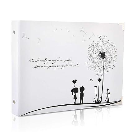 Thxmadam Scrapbook Album Photo Livre D Or De Mariage Souvenirs Bricolage Pages Noire Cadeau Pour Saint Valentin Anniversaire Noel Voyage Mariage Pour