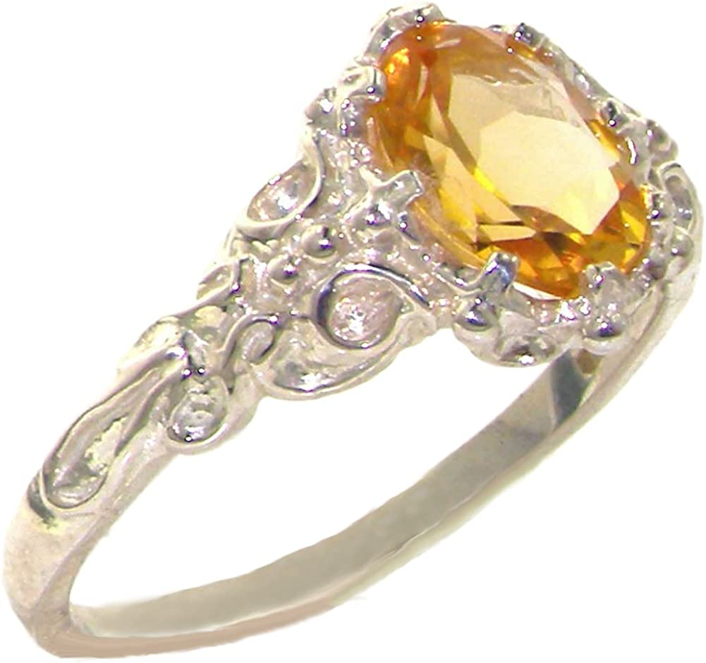 Stacking Ring Engagement Ring Natural Citrine Gemstone 925 Sterling Silver Ring Wedding Band Ring Birthstone Gift Ring Size US 4 to 15