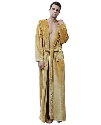 PFSYR Albornoz de franela Pijamas de hombre/Rebeca con capucha engrosamiento Vestido de noche Ropa de hogar/Cálido y acogedor: Amazon.es: Ropa y accesorios