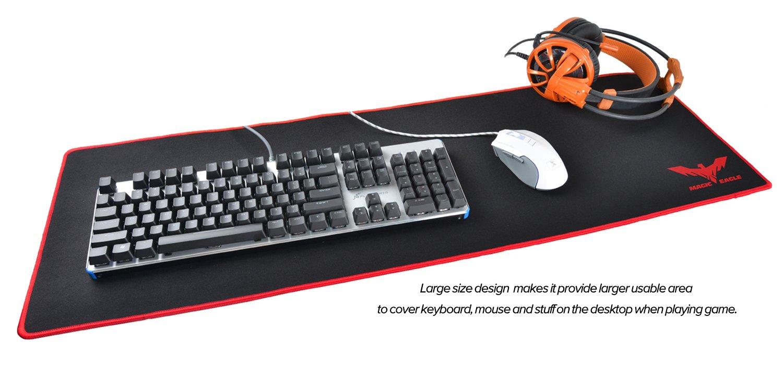 MP830 Havit Alfombrilla rat/ón Ordenador Extended XL 900 x 300 x 3 mm Superficie Impermeable y Base de Goma Antideslizante para PC y Port/átil
