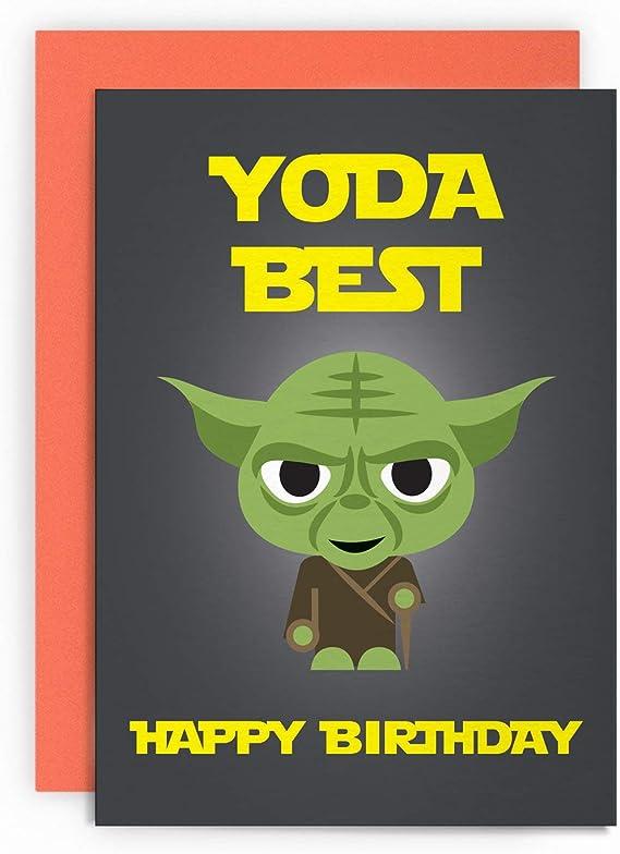 YODA BEST SON Greeting Comedy Rude Funny Humour Birthday Card Star Wars  C805