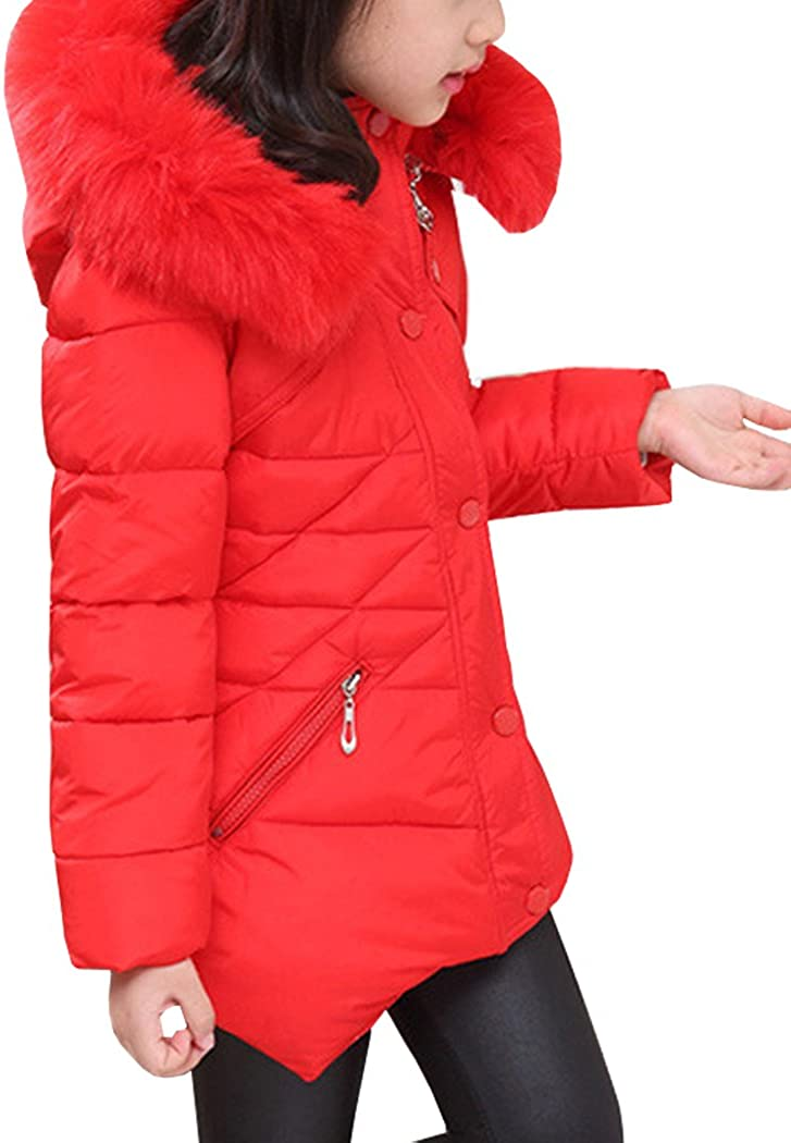 AnKoee Little Girls Jacket Girls Kids Coat Windbreaker Outwear Warm Jackets Outwear Winter Clothes for 3-12 Years Old