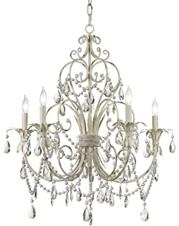 chateau vieux collection antique white five light chandelier - Shabby Chic Chandelier