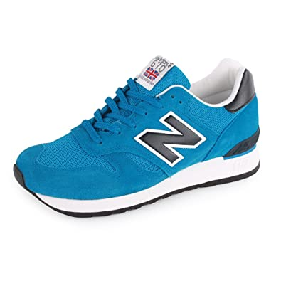 2114cb23f69b New Balance 670 M670SBK Made in England Mens Suede Trainers Blue Black 9 UK   Amazon.co.uk  Shoes   Bags