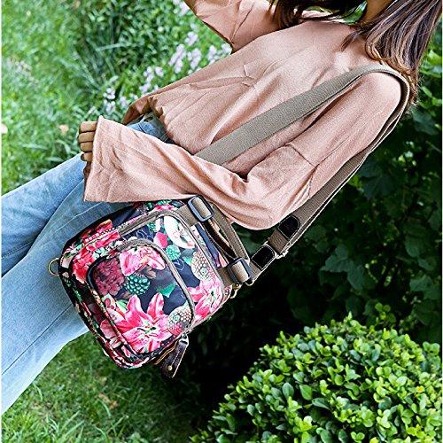 Niñas 24 Bolsa Transversal Las De Las Cuerpo 6 Impresas Mujeres De B 27cm Mochila Flores Bolsa D De De Señoras Impermeable Hombro Las 10 Colores Bolsa wwBEWxUf